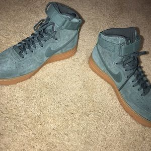 Beautiful Hunter Green Nike Air Force 1s